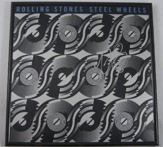 Charlie Watts Original Signed Autographed Rolling Stones Steel Wheels Lp Record Album with Vinyl Framed Loa Entertainment Collectibles