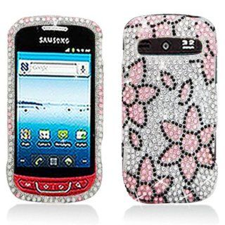 Aimo Wireless SAMR720PCDI181 Bling Brilliance Premium Grade Diamond Case for Samsung Admire/Vitality R720   Retail Packaging   Pink/White Flowers Cell Phones & Accessories