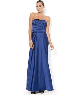 Lauren Ralph Lauren Strapless Sequined Detail Gown   Dresses   Women
