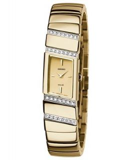 Seiko Watch, Womens Solar Gold Tone Stainless Steel Bracelet 16mm SUP168   Watches   Jewelry & Watches
