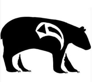 Native American Bear Symbol Vinyl Decal Sticker Car Truck Sign RV Window 178 01   Vinyl Sticker Wall Art Deco Decal   50cm Height, 50cm Width   Black Vinyl