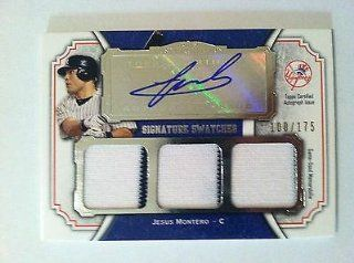 Jesus Montero Autographed Jersey   2012 Topps Museum Collection Triple #100 175   MLB Autographed Game Used Cards Sports Collectibles