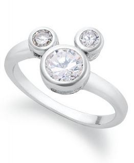 Disney Sterling Silver Ring, Mickey Mouse Cubic Zirconia Ring (1/3 ct. t.w.)   Rings   Jewelry & Watches