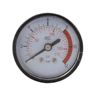 53mm Body 13mm Thread Gas Air Pressure Gauge Compressor Manometer 0 12BAR 0 170PSI   Air Compressor Accessories