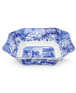Spode Blue Italian Square Serving Bowl, 9.5   Casual Dinnerware   Dining & Entertaining