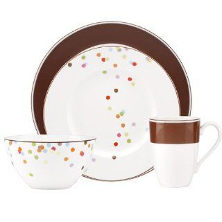 Kate Spade Market Street Chocolate 4 Piece Place Setting Kitchen & Dining