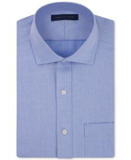 Tommy Hilfiger Dress Shirt, No Iron Sky Blue and Pink Stripe Long Sleeve Shirt   Dress Shirts   Men