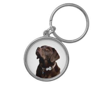 Black Brown Labrador Retriever Puppy Dog Keychain