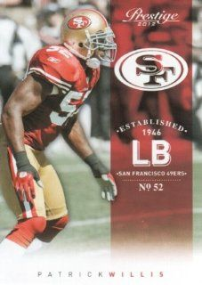 2012 Panini Prestige Football #166 Patrick Willis San Francisco 49ers NFL Trading Card Sports Collectibles
