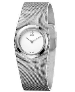 Calvin Klein Womens Swiss Impulsive Stainless Steel Mesh Bracelet Watch 27mm K3T23126   Watches   Jewelry & Watches