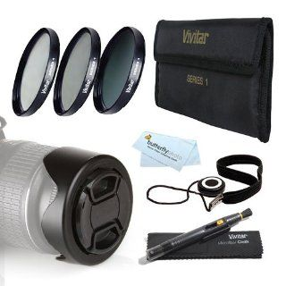 72MM Pro Lens Kit for Nikon Df, D7100, D7000, D5300, D5200, D5100, D3200 D3100 D800, D700, D600 D610 D300S D90 Canon EOS 5D Mark III, EOS 1D X, 6D, 7D, 60D, 70D T5i, T4i, SL1, T3i, T3, EOS M DSLR   72mm 3pc Filter Kit (UV CPL ND8 Neutral Density Filter) +