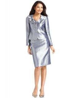Kasper Suit, Hammered Satin Bow Jacket & Skirt   Suits & Suit Separates   Women