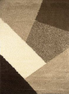 Home Dynamix Lexington L02 161 39 Inch by 55 Inch Area Rug, Beige/Brown   Shags Rugs