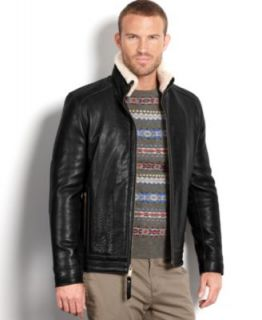 Marc New York Jacket, Stanton Smooth Lamb Leather Baseball Bomber Jacket   Coats & Jackets   Men