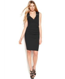 Jessica Simpson Sleeveless Seamed Sheath   Dresses   Women