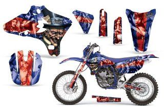 MadHatter AMRRACING MX Graphics decal kit fits Yamaha YZ250F YZ450F (2003 2005) Blue Red BG Automotive