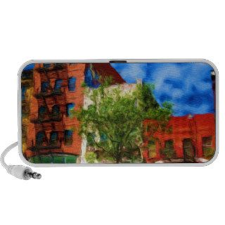Colorful NYC City Block Notebook Speaker