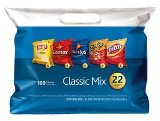 22x KLEINE CHIPS T�œTEN   Lays Classic, Doritos Nachos   Cool Ranch, Cheetos Crunchy, Sun Chips, Fritos Original   CLASSIC MIX aus USA  Grocery & Gourmet Food
