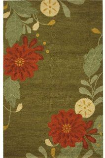 Martha Stewart Living&#153 Picture Book Floral Area Rug   4'x6', Pup Tent