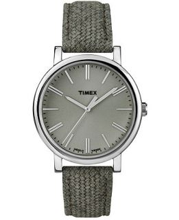 Timex Watch, Womens Premium Originals Sage Green Leather Strap 38mm T2P174AB   Watches   Jewelry & Watches
