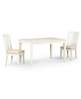 Sanibel Dining Room Furniture, 3 Piece Set (Rectangular Table and 2 Side Chairs)   Furniture