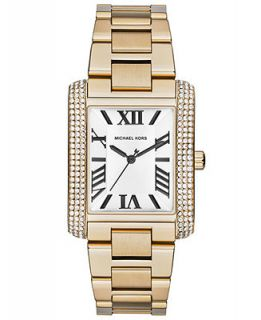 Michael Kors Womens Emery Gold Tone Stainless Steel Bracelet Watch 40x31mm MK3254   Watches   Jewelry & Watches
