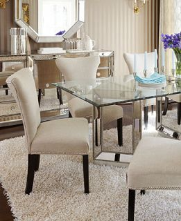 Sophia Dining Room Furniture, 7 Piece Set (76 Table and 6 Side Chairs)   Furniture