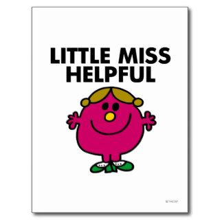 Little Miss Helpful Classic Post Card