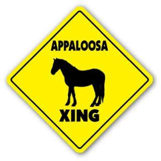 APPALOOSA CROSSING Sign novelty gift animals farm  Street Signs  Patio, Lawn & Garden
