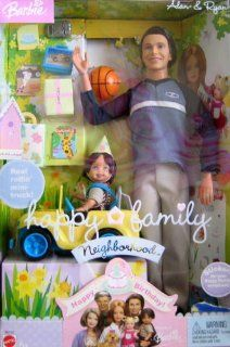 Barbie Happy Family Neighborhood   Alan & Ryan Happy Birthday   2 Dolls + Mini Truck (2003) Toys & Games