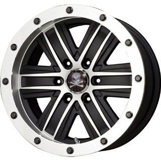 "American Outlaw Curse Black Machined Face Wheel with Machined Finish (17x9""/6x139.7mm) Automotive"