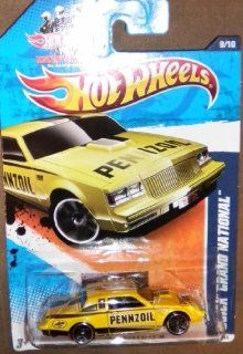 "2011 HOT WHEELS HW PERFORMANCE 9/10 YELLOW BUICK GRAND NATIONAL ""PENNZOIL"" 139/244 Toys & Games"