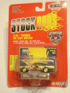 Racing Champions   Stock Rods Series   3.25 inch Replica   NASCAR 50th Anniversary Limited Edition   Jeff Burton #9   1968 Ford Mustang   Track Gear   Issue #137 Toys & Games