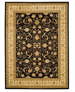 MANUFACTURERS CLOSEOUT Safavieh Rugs, Lyndhurst LNH219 Black/Ivory   Rugs
