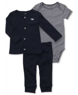 Carters Baby Set, Baby Boys Turn Me Around 3 Piece Striped Bodysuits and Pants   Kids