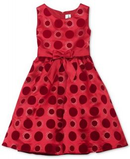 Rare Editions Girls Polka Dot Holiday Dress   Kids