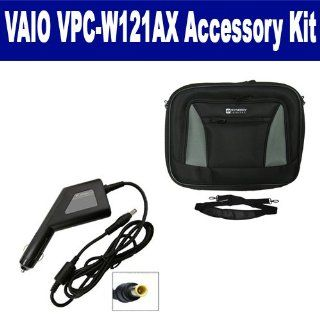 Sony VAIO VPC W121AX Laptop Accessory Kit includes SDA 3561 Car Adapter, SDC 32 Case Computers & Accessories