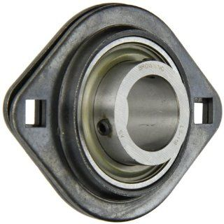 "Browning SSF2S 118 Light Duty Flange Unit, 2 Bolt, Setscrew Lock, Non Relubricatable, Contact and Flinger Seal, Stamped Steel, Inch, 1 1/8"" Bore, 3 9/16"" Bolt Hole Spacing Width, 4 7/16"" Overall Width Flange Block Bearings Industrial &"