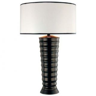 George Kovacs P116 1 066 Table Lamp Black Painted White Paper Portables