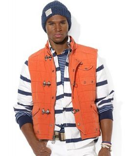 Polo Ralph Lauren Vest, Quilted Cotton Vest   Coats & Jackets   Men
