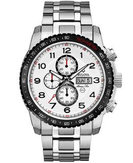 Bulova Watch, Mens Chronograph Marine Star Stainless Steel Bracelet 47mm 98C114   Watches   Jewelry & Watches