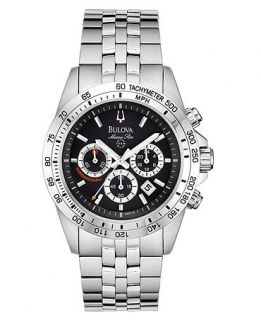 Bulova Mens Chronograph Stainless Steel Bracelet Watch   Watches   Jewelry & Watches