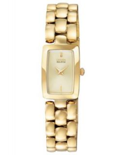 Seiko Watch, Womens Solar Gold Tone Stainless Steel Bracelet 15mm SUP030   Watches   Jewelry & Watches