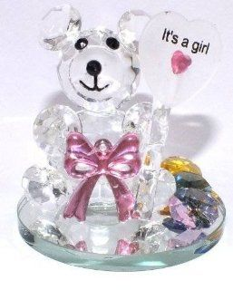 Crystal Girl Birthday Purple Bear Figure Figurine Designer Collection #108   Decorative Bowls