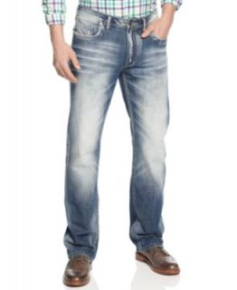 Buffalo David Bitton Six Slim Straight Leg Jeans, Dust Wash   Jeans   Men