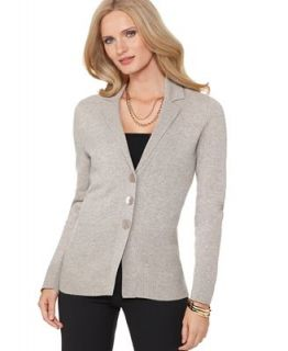 Jones New York Sweater, Long Sleeve V Neck Cashmere Cardigan   Sweaters   Women