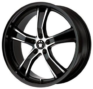 "Konig Airstrike Gloss Black Machined Wheel (18x8""/5x112mm) Automotive"