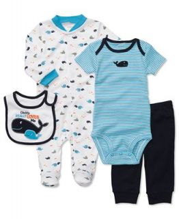 Carters Baby Set, Baby Boys 4 Piece Whale Footed Coverall Set   Kids