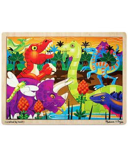 Melissa and Doug Kids Toy, Prehistoric Sunset 24 Piece Jigsaw Puzzle   Kids