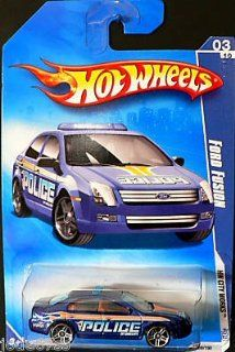 Hot Wheels 2009 109 Ford Fusion Blue Police HW City Works 3 of 10 164 Scale Toys & Games